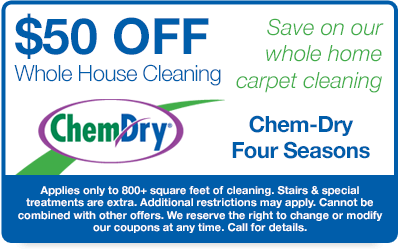 $50 Off Whole House Carpet Cleaning Coupon