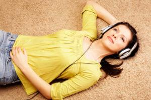 woman on carpet