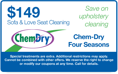 $149 Sofa and Loveseat Cleaning Coupon