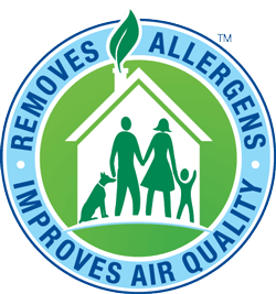removes allergens from carpets and improves air quality seal