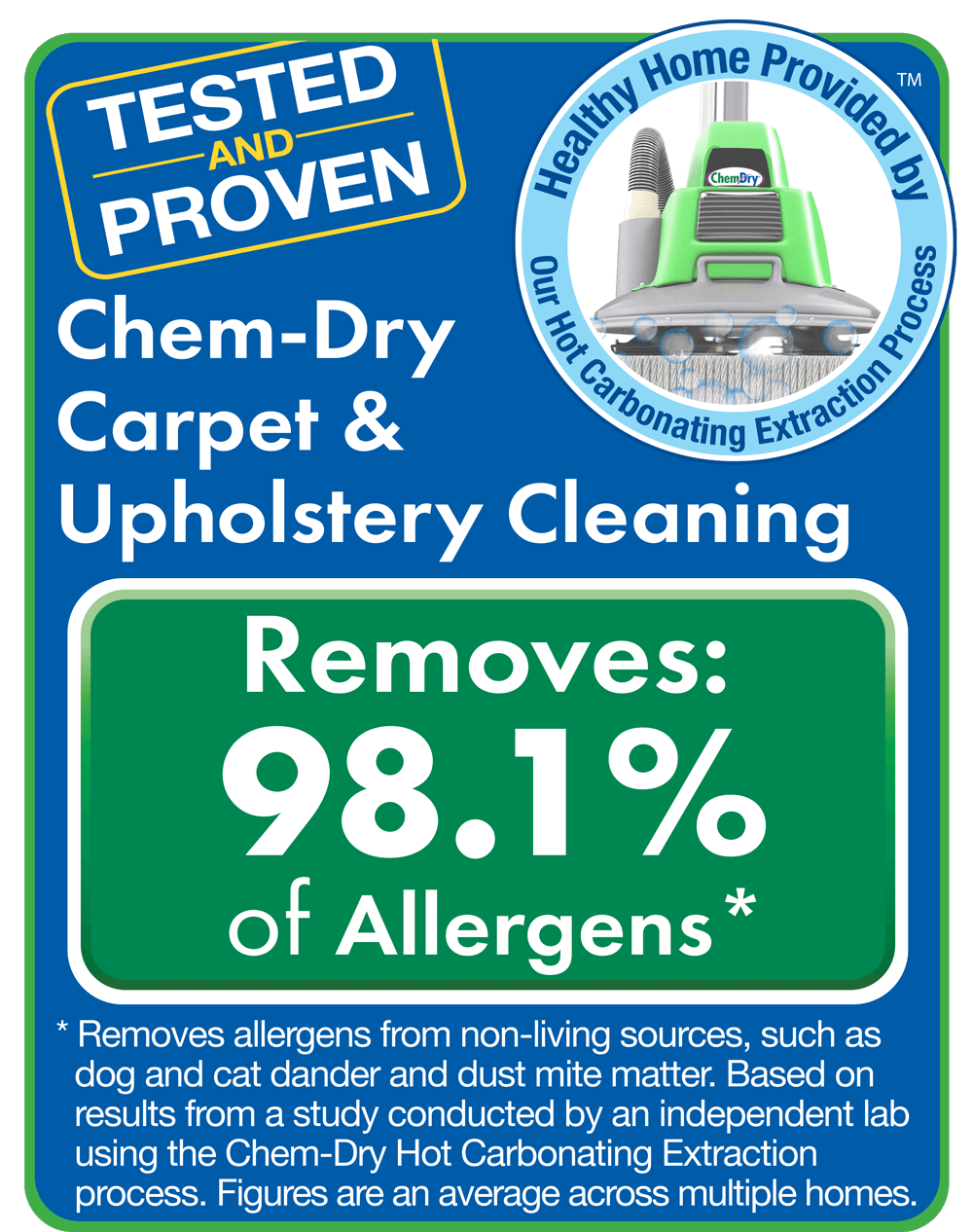 tested and proven carpet cleaning